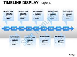 timeline template for powerpoint 2003 timeline display style 6