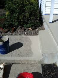 resurfacing concrete porch makeover fills in imperfections and