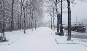 images of paris in pictures snow falls over paris as city of light turns white