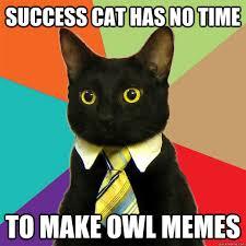 Success Cat Meme - success cat has no time cat meme cat planet cat planet