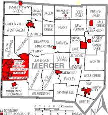 mercer map mercer county pennsylvania