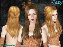 sims 3 hair custom content cazy s promise hairstyle female no bow