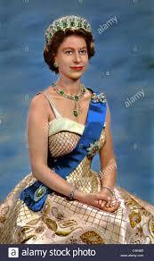 queen elizabeth ii queen of england 01 may 1951 stock photo