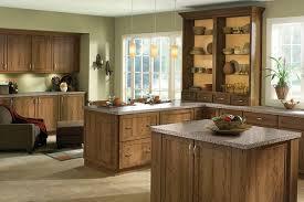 Rustic Cherry Kitchen In Husk KraftMaid - Rustic cherry kitchen cabinets