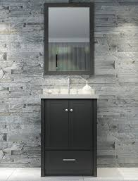 ace adams 25 inch single sink bathroom vanity set in black finish