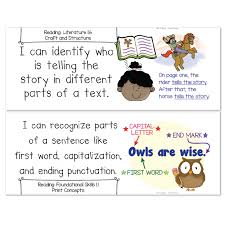grade common core standards posters i can statements ela