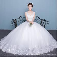 wedding dress korea new explosion of hot korean wedding dress shoulders v collar thin