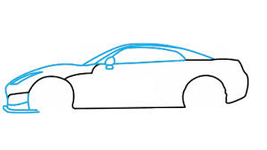 how to draw nissan gtr a car easy step by step drawing tutorial