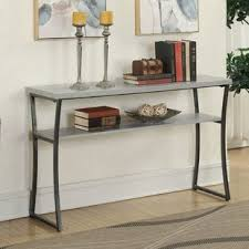 6 inch deep console table industrial console sofa tables you ll love