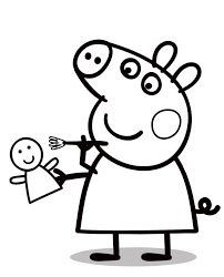 colouring pages peppa pig print disney coloring pages print