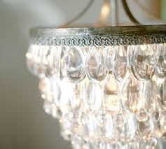 The Crystal Chandelier Crystal Beach Clarissa Crystal Drop Small Round Chandelier Pottery Barn