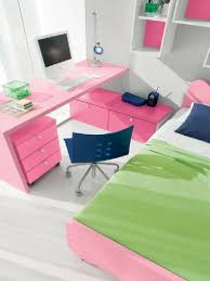 Pink Desk For Girls Bedroom Wonderful And Cool Pink Bedroom Furniture Design By