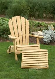 Patio Chairs With Ottoman Pine Wood Folding Adirondack Chair