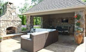 exquisite outdoor kitchen with fireplace with bricks stone exquisite outdoor kitchen