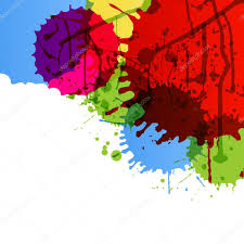 abstract paint color splashes detailed background illustration