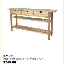 Find More Ikea Norden Birch Occasional Table Price Drop For Sale