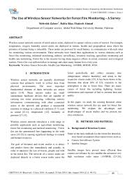 the use of wireless sensor networks for forest fire monitoring u2013 a su u2026