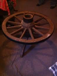 Wagon Wheel Coffee Table by Vintage Wagon Wheel Table Without Glass Interested Checkout