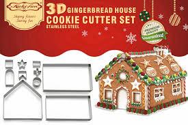 christmas gingerbread house 3d gingerbread house cookie cutters farertop