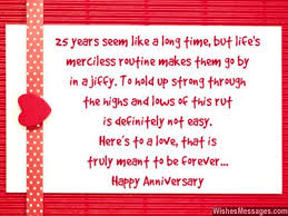 wedding quotes anniversary 25th anniversary wishes silver jubilee wedding anniversary quotes