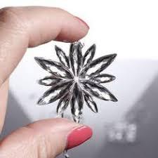 kmart smith midnight clear metallic snowflake ornament