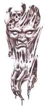 new demonic skull tattoo designs