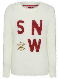 eyelash embellished slogan christmas jumper christmas jumpers