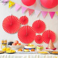 paper fans for wedding online shop 6pcs set patriotic hanging paper fans