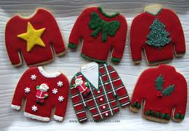 sweater cookies gnarly knitted numbers sweater cookies