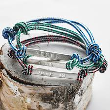 rope bracelet images Men 39 s id bead rope bracelet by chambers beau jpg