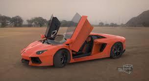 Lamborghini Aventador Open Door - artstation 3d modeling and texturing viraj temghare