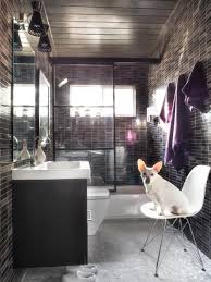 Masculine Bathroom Ideas Bathroom 2017 Masculine Black Accent On Wide Tile Wall And Big