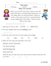 all worksheets reading comprehension fairy tales worksheets