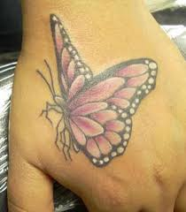 feminine purple winged monarch butterfly tattoos for