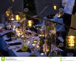 Formal Table Setting Night Formal Table Setting Stock Photo Image 63133839
