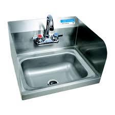 restaurant hand washing sink bk bkhs w 1410 ss p g hand wash sink side splash wall mount