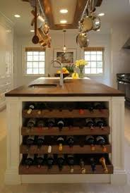 kitchen island with wine rack foter