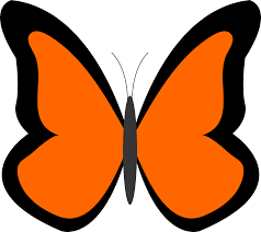 bug clipart orange butterfly pencil and in color bug clipart