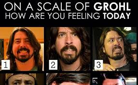 Foo Fighters Meme - the grohl scale