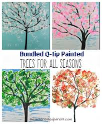 bundled q tip trees for every season u2013 the pinterested parent