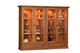 trophy display cabinets dining room case goods curio cabinets trophy case display
