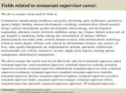 top 5 restaurant supervisor cover letter samples