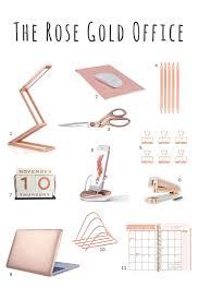 Stylish Desk Accessories Rose Gold Desk Accessories Rose Gold Scissors Rose Gold Stapler