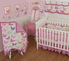 baby nursery beautiful butterfly baby bedding sets for pink color
