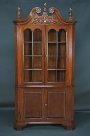 Corner Cabinet With Glass Doors Furniture Tall Corner Cabinets With Glass Doors In Brown Polished