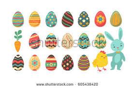 decorative eggs that open easter egg vector design set free vector stock