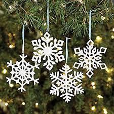 12 resin iridescent glitter snowflake