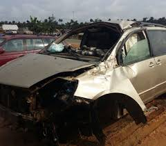 photo popular nigerian actor paw paw u0027s car involved in nasty accident