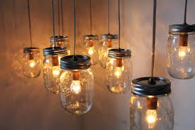 How To Mason Jar Chandelier Mason Jar Lighting Ideas Breathingdeeply