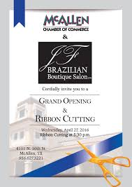 Salon Invitation Card Brazilian Boutique Salon Grand Opening U0026 Ribbon Cutting Mcallen